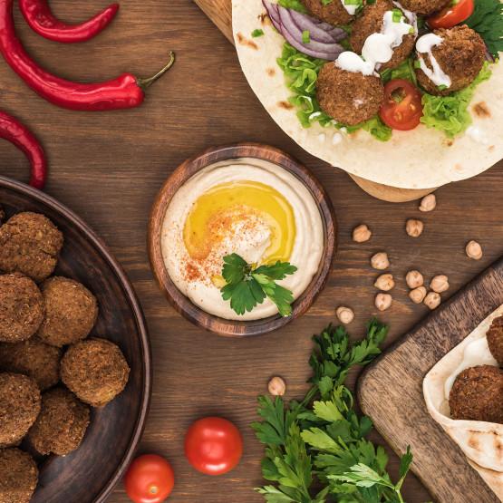 falafele, ilustracja do artykułu o falafelach