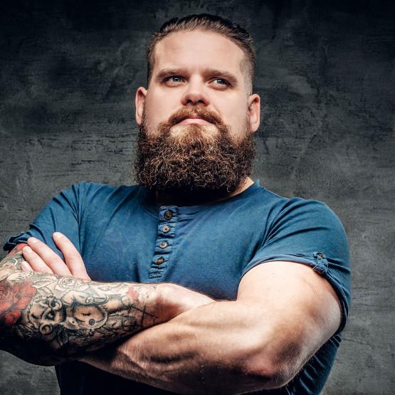 Mężczyzna z brodą, ilustracja do artykułu